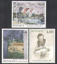 Monaco 1989 Cezanne/Sisley/Florence/Art/Paintings/Artists/Boats 3v set (n37889)