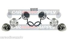 New 300 Watt Chrome Component Car Stereo Super Dome Tweeters Dash Door Speakers