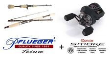 "Pflueger Trion 5'11""  5-10Kg Barra Combo with Quantum Smoke Baitcaster Reel New"