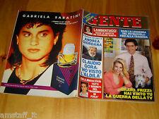 GENTE=1991/46=ANNA KANAKIS=MARCO VIVIO=GERONIMO MEYNIER=LELLA FABRIZI=VILLORESI=