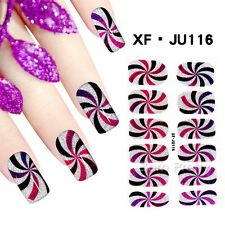 1 Sheet Tourbillion Patterned Nail Foil Wraps DIY Full Nail Art Sticker Decor