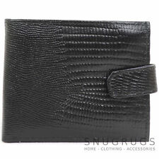 Mens Leather Snake Effect Wallet with Multiple Features