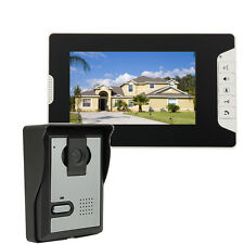 "7"" TFT LCD Wired Video Door Phone Doorbell Home Security IR Camera 1-Monitor US"