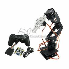 6 DOF Arm Mechanical Robotic Arm Clamp Claw Mount Kit & Servos & Controller