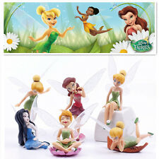 6 TINKERBELL FAIRIES SECRET OF THE WING ACTION FIGURE CAKE TOPPER FIGURINES TOY