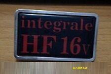 Lancia delta hf integrale 16 valvole badge stemma logo targhetta mascherina
