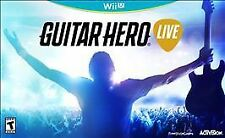 Guitar Hero Live Bundle Game and Guitar (Nintendo Wii U, 2015) - NEW!