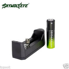 1PCS SKYWOLFEYE 5800mAh Li-ion 3.7V Rechargeable 18650 Battery + Single Charger