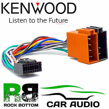 KENWOOD KMM-361SD Car Radio Stereo 16 Pin Wiring Harness Loom ISO Lead Adaptor