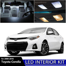 8PCS White Interior LED Light Package Kit for 2000 - 2016 Toyota Corolla