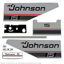 Johnson 1987 - 1988 15hp Outboard Decal Kit - Discontinued Decal Reproductions!
