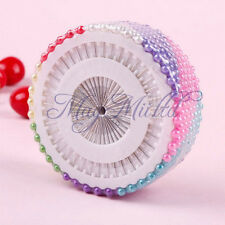 G New 480Pcs Dressmaking Sewing Pin Straight Round Head Color Faux Pearl Corsage