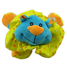 Fiesta Plush - Baby - LAYDOWN LION (Blue with Rattle - 7.5 inch) New Stuffed Toy