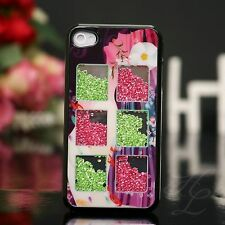 Apple iPhone 4 4S Hard Case Schutz Hülle Etui Cover fallende Strass Steine