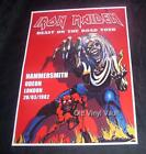 Iron Maiden concert poster Hammersmith Odeon London UK 1982 new A3 size repro