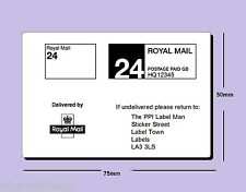 12000 x Royal Mail PPI ONLY Labels SQUARE PPI  (24s) 1st / 2nd Class