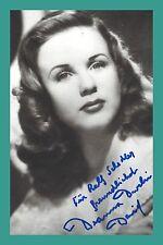 DEANNA DURBIN   Schauspielerin   Original-Autogramm auf Echtphoto