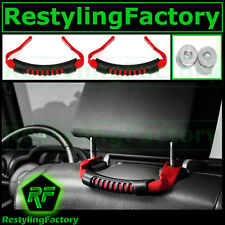 07-16 Jeep JK Wrangler Extreme RED Rear Side Grab Handle Set Windshield Pillar