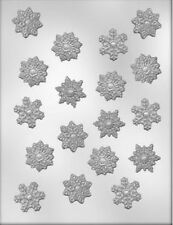 Snowflake Holiday Christmas Clear Chocolate Candy Mold from Ck 4139 - NEW