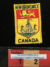 VTG. Canada Patch ~ NEW BRUNSWICK FLAG THEME HERALDRY 5DB8