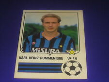 FOOTBALL SOCCER CHAMPIONS STICKERS FORZA GOAL 1984-85 INTER RUMMENIGGE NEW-MAX
