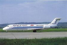 ZAS Airline of Egypt Mc Donnell Douglas DC-9-33CF YU-AHW at Zurich 1989 Postcard