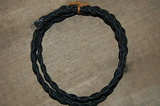 Black Twisted Cloth Covered Wire Antique Vintage Style Lamp Lights Cord 18 Gauge
