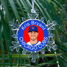 Kris Bryant Chicago Cubs Snowflake Blinking Holiday Christmas Tree Ornament