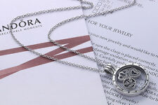 Pandora Necklace Floating Locket 925 Sterling Silver Free Shipping