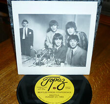 * * ONLY 2000 MADE! BEATLES SEATTLE PRESS CONFERENCE UNPLAYED MINT 45/PIC SLEEVE
