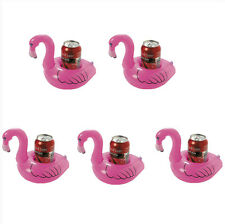 5X Inflatable Flamingo Drink Can Holder Swimming Pool Bath Child Floating Toys