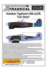 "Xtra Decals 1/72 HAWKER TYPHOON Mk.Ia & Mk.Ib ""CAR DOOR"" British WWII Fighter"