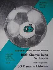 Programma 1985/86 BSG Chemie Buna Schkopau-DINAMO Eisleben