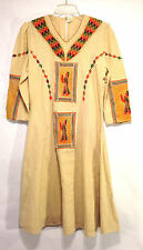 gorgeous IMAGERY CREATION vintage muslin Mexican Mayan ethnic dress M