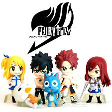 Anime Fairy Tail Natsu Happy Lucy Gray Elza Figure Figurine No Box