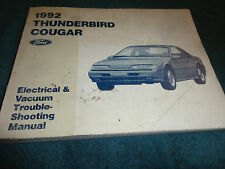 thunderbird 1992 ford thunderbird cougar wiring vacuum diagram shop manual orig electrical