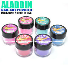 LOT OF 6 MIA SECRET ALADDIN NAIL ART ACRYLIC POWDER SET RED PURPLE PINK BLUE USA