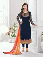 Stylish blue colour wedding designer Anarkali suit salwar kameez Dress Material