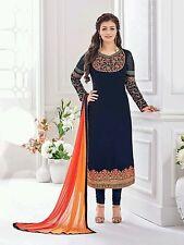 Stylish blue colour wedding designer Anarkali suit salwar kameez Dress Material
