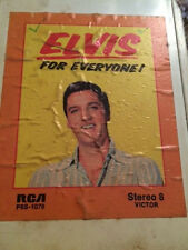8 Track tape ELVIS For Everyone!