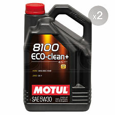 Motul 8100 Eco-clean+ 5W-30 C1 Synthetic Engine Motor Oil 2 x 5 litres 10L