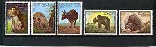 LAOS 1985 Sc#645-649 FAUNA WILD ANIMALS SET OF 5 STAMPS MNH