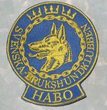 """Svenska Brukshundklubben Patch - Sweden - HABO - 2 1/2"""" x 2 7/8"""""""