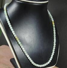 Green Yellow 100% Natural A JADE Jadeite Bead beads Necklace 20 inches 388363