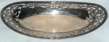 Sheffield Reproduction Beautiful Scrolled Oval Silver tray Ships Free to USA