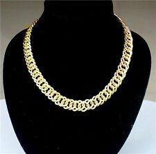 New Nice Desing Fashion Gold Plated Metal Chunky Link Chain Choker Necklace Top