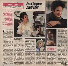 Coupure de presse Clipping 1991 Peta Toppano   (1 page 1/2)