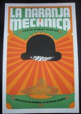 Rare Cuban CLOCKWORK ORANGE Silkscreen Movie Tribute Poster / CUBA Pop Art