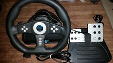 PLAYSTATION 2 COBRA TT PELICAN STEERING WHEEL AND PEDALS PL-624 TESTED VG COND