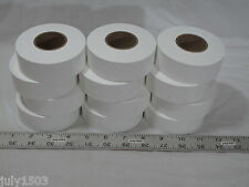 """(12) rolls White Flagging Tape 1-3/16"""" x 300' 2 mil Trail Marking Free Shipping"""